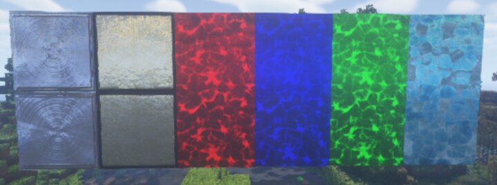 Iron Block, Gold BLock, Redstone Block, Lapis Lazuli Block, Emerald Block, Diamond Block