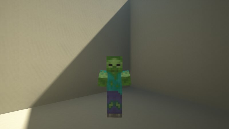 New Zombie Texture is smoother and looks better in game
