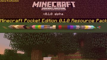 Official Download! The Minecraft Pocket Edition 0.1.0 Resource Pack! Java Only! Minecraft Texture Pack
