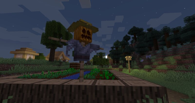 Look! A scarecrow!