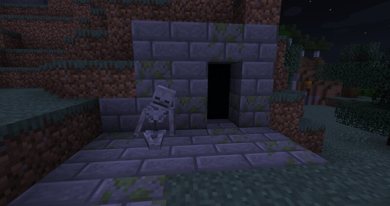 Leaning Skeleton out of a dungeon!