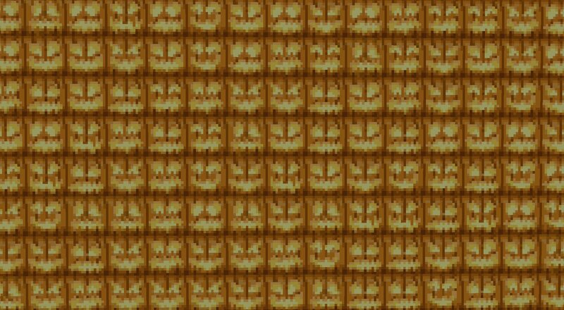 10 different faces with a generous total of 16 frames of animation for each face! That's 160 jack o lantern face frame textures in total!