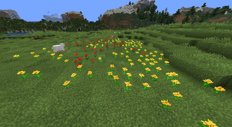 Some flower variation examples, plus grass and grass block shading and shape variants!