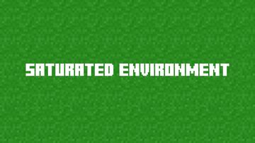 Saturated Environment Minecraft Texture Pack