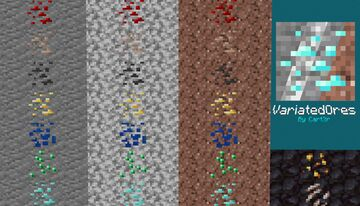 VariatedOres [Optifine Required!] Minecraft Texture Pack