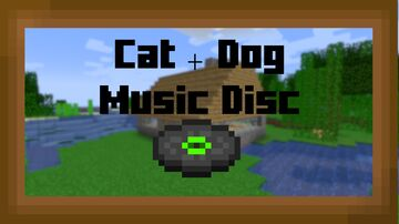 Cat + Dog Music Disc Minecraft Texture Pack