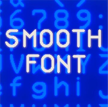 smooth font Minecraft Texture Pack