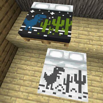 Beds with dinosaurs c: - Bedrock Minecraft Texture Pack