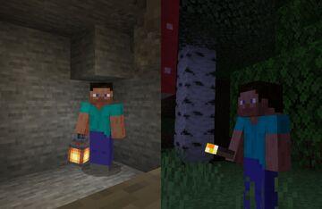 3D Torch+3D Lantern Items Minecraft Texture Pack