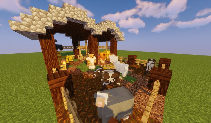 Animals in a Barn