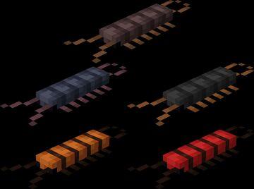 Cutie Crawlies - Centipede silverfishes Minecraft Texture Pack