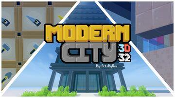 Modern City Construction - Stylized 3D Minecraft Texture Pack