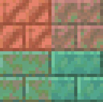 Cut Copper to Copper Bricks [Bedrock] Minecraft Texture Pack