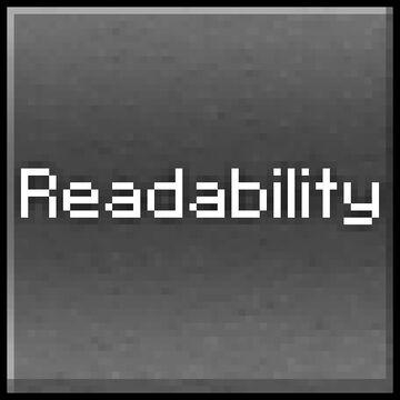 Readability Fontpack Minecraft Texture Pack
