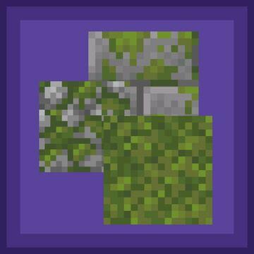 Consistent Mossy Blocks - Bedrock Minecraft Texture Pack