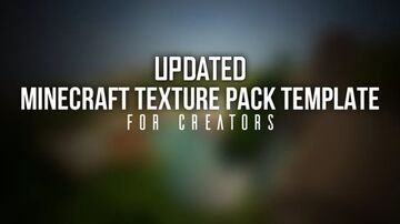 UPDATED | Minecraft Texture Pack Template for Java. (Support all Versions) Minecraft Texture Pack