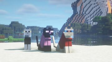 cats in sweaters Minecraft Texture Pack