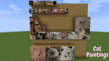 Cat Paintings Minecraft Texture Pack