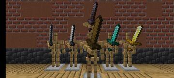 (Bedrock) 3D Default Swords Pack Minecraft Texture Pack