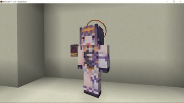 Hololive Ninomae Ina'nis's Book and Head Ring Minecraft Texture Pack