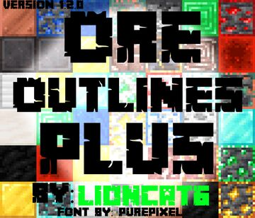Ore Outlines Plus Minecraft Texture Pack