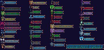 Enchantment Symbols Minecraft Texture Pack