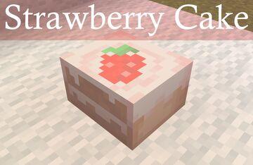 Strawberry Cake Minecraft Texture Pack
