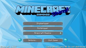 Diamond Main Menu Minecraft Texture Pack