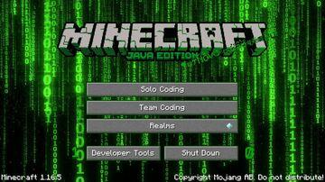 Coding themed Main Menu Minecraft Texture Pack