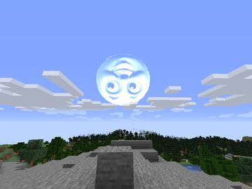Minecraft but the sun is thomas the tank engine Minecraft Texture Pack