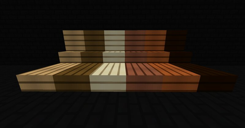 Oak, Spruce, Birch, Jungle, Acacia and Dark Oak Planks, Stairs and Slabs