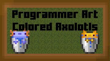 Programmer Colored Axolotls Minecraft Texture Pack
