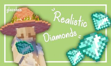 Realistic Diamonds Minecraft Texture Pack