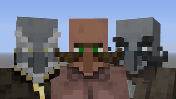 Villagers, Pillagers, Improvements! - Random moustaches/beards, Retextured Illagers, more! Minecraft Texture Pack
