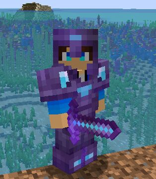 Netherite Armore + Tools and lowfire Minecraft Texture Pack