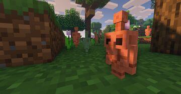 "New Minecraft Mob ""COPPER GOLEM"" Recreation Minecraft Texture Pack"