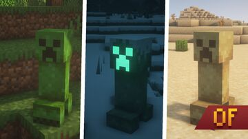 Creepers Plus | OptiFine Required Minecraft Texture Pack