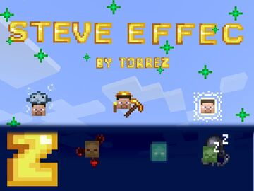 Steve and Zombie effect Minecraft Texture Pack