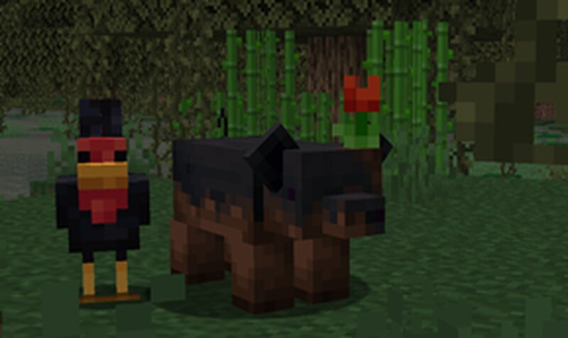 Pigs that spawn in swamp have a higher chance of being muddy pigs usually 1 out of 32!
