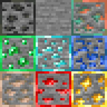 K3wl's Ore Outline for Bedrock Edition Minecraft Texture Pack