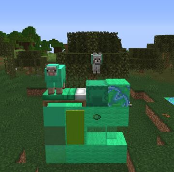 Lime into Spring Green Minecraft Texture Pack