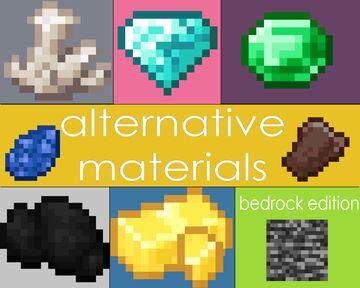 alternative materials (bedrock edition) Minecraft Texture Pack