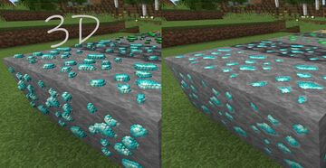 3D Ore Models for Compliance [64x] Minecraft Texture Pack