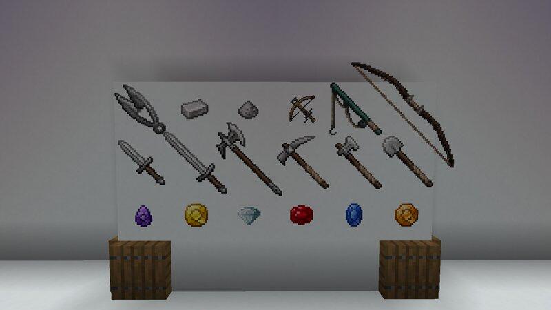 Waffen, Werkzeuge, Edelsteine