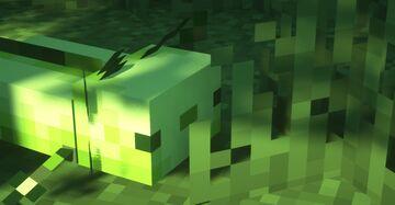 Green axolotls!! Minecraft Texture Pack