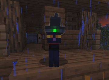 Black Cat With Witch Hat - Halloween / Spooktober Texture pack Minecraft Texture Pack