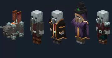 New Illagers | Minecraft Bedrock Minecraft Texture Pack