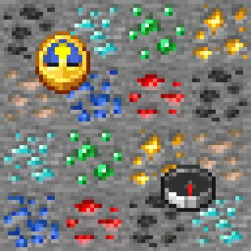 1.17 Ores, Compass & Clock for 1.8.9 Minecraft Texture Pack
