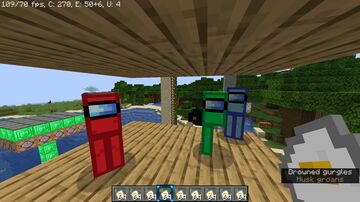 Among us zombies! Minecraft Texture Pack