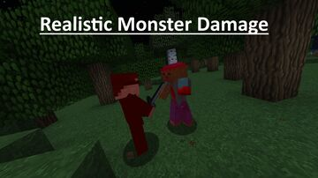 Realistic Monster Damage Minecraft Texture Pack
